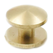 Fujiyuan 20 Sets Solid Brass Arc Head Button Stud Screwback spot For Screw Leather Belt Shaft Length 10mmx4mmx4mm