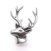 Deer Head Left Facing Nickel Line 24 Snap Cap 2.5cm 1265-26