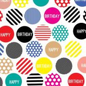 Jillson Roberts 6-Roll Count Birthday Gift Wrap, Polka Dot Party