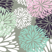 Jillson Roberts Designer Printed Tissue, Delicate Flower, 24-Sheet Count