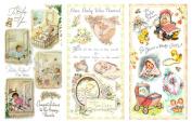Decoupage Paper Pack (12 sheets A4 / 20cm x 28cm ) Baby Newborn Toddler FLONZ Vintage Ephemera