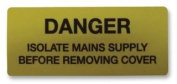 PRO POWER 7827617 LABEL, DANGER ISOLATE, CARD OF 8