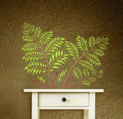 Tree Fern Stencil - (size 50cm w x 38cm h) Reusable Wall Stencils for Painting - Best Quality Wall Art Décor Ideas - Use on Walls, Floors, Fabrics, Glass, Wood, Terracotta, and More...