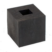 5.1cm x 5.1cm Rubber Block with Square Hole