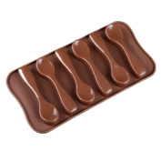 M & F 6 Spoons Shaped Food Grade Silicone Chocolate Mould Silicone Ice Trays Mould