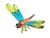 TINY CRYSTAL DRAGONFLY HAND BLOWN CLEAR GLASS ART DRAGONFLY FIGURINE ANIMALS GLASS BLOWN FBM