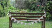 Burlap Banner Wedding Party Bunting Just Married Flags Home Garland Wedding Decorations, 3.7m