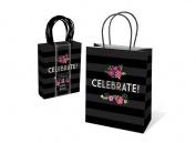Punch Studio Lady Jayne Black Party Treat Gift Bags 8 Ct Set - Celebrate
