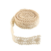 Funnytoday365 Vintage Ivory Bridal Wedding Trim Ribbon Craft Cotton Crochet Lace Fabric