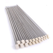 ER Shop 11 Pairs of 36cm Silver Stainless Steel Straight Single Pointed Knitting Needles with Different Size of