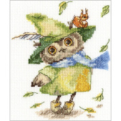Leaf Fall Counted Cross Stitch Kit-15cm x 16cm 14 Count