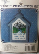 "NEW BERLIN COUNTED CROSS STITCH KIT ""WILL LIFT UP MINE EYES TO THE HILLS"" #30402"