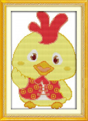 Good Value Cross Stitch Kits Beginners Kids Advanced -Lucky Chicken 11 CT 25cm x 38cm , DIY Handmade Needlework Set Cross-Stitching Accurate Stamped Patterns Embroidery Home Decoration Frameless