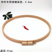 1PC Beech Wooden Embroidery Hoop Dia41cm High 2.4cm Embroidery Hoops For Embroidery Patchwork Round Wood Art Handicraft Tools Chelsea Bloxsom