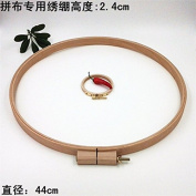 1PC Patchwork Embroidery Hoop Dia44cm High 2.4cm Beech Wooden Embroidery Hoops Round Wood Art Handicraft Tools Chelsea Bloxsom