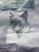 Siamese Cat Needlepoint by Creatures and Critters