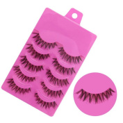 XILALU 5 Pairs Fashion Natural Handmade Soft Long False Eyelashes Makeup tool