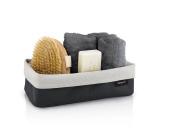 Reversible storage basket, large, sand-anthracite