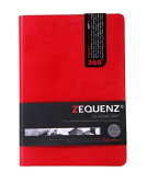 Zequenz Classic 360 Soft Bound Journal Writing Notebook Large 15cm x 21cm Red 200 sheets / 400 pages Grid Pattern premium paper