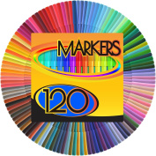 Colour Markers Set - (SET OF 120 UNIQUE & VIBRANT colours) - Completely Washable - Fine Bullet Felt Tip - Pen Size Barrel - Perfect for Adult Colouring, School Projects, Doodling, & More!