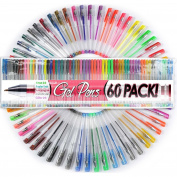 NEW 60 UNIQUE Colours Gel Ink Pens New Colours Adult Colouring Pens