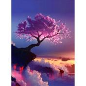 Awakingdemi 5D DIY Diamond Painting Cherry Trees Wonderland Cross Stitch Wall Stickers Rhinestone Painting Home Decor