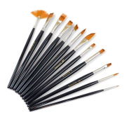 Paint Brush Set, TopSuper® 12pcs Nylon Hair Painting Brush Artist Watercolour Acrylic Oil Painting Supplies