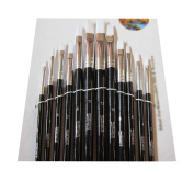 12 Pieces Black Oil Painting Tools for Child/Mini Painting Brushes Sets