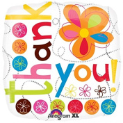 Anagram Thank You Colourful Flowers 46cm Foil Balloon