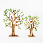 One Hundred 80 Degrees Owl Trees Tabletop Wood Decorations