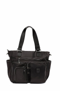 'Kennedy' Baby Bag / Nappy Bag - Carryall Tote - Black