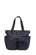 'Kennedy' Baby Bag / Nappy Bag - Carryall Tote - Midnight Blue