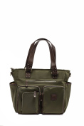 'Kennedy' Baby Bag / Nappy Bag - Carryall Tote - Olive