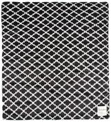 My Blankee Moroccan Mini Tile Minky Throw Blanket, 130cm X 150cm , Black