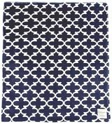 My Blankee Dolce Vita Lattice Minky Throw Blanket, 130cm X 150cm , Navy
