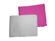 Baby Doll Bedding 2 Piece Crib Sheet Set, Hot Pink/Grey