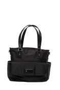 'Lisa' Baby Bag / Nappy Bag - Carryall Tote - Black
