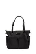 'Josie' Baby Bag / Nappy Bag - Carryall Tote - Black
