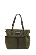 'Josie' Baby Bag / Nappy Bag - Carryall Tote - Olive