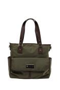 'Lisa' Baby Bag / Nappy Bag - Carryall Tote - Olive