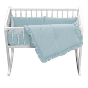 bkb Primary Colours Cradle Bedding, Light Blue, 38cm x 80cm