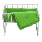 bkb Primary Colours Cradle Bedding, Green, 38cm x 80cm