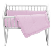 bkb Primary Cradle Bedding, Pink, 38cm x 80cm
