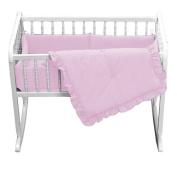 bkb Primary Cradle Bedding, Pink, 38cm x 80cm