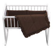 bkb Primary Cradle Bedding, Brown, 38cm x 80cm