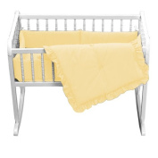 bkb Primary Cradle Bedding, Yellow, 38cm x 80cm