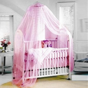 Jr.White Baby/Toddler Bed White Conical Curtains Crib Canopy Netting Available Mosquito Net with Home & Travel