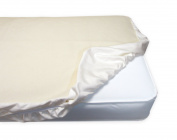 Organic Cotton Flannel Fitted Crib Pad, 70cm x 130cm