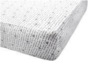 100% Organic, Soft & Cosy Blueberry Fitted Crib Sheet, 70cm x 150cm x 14cm