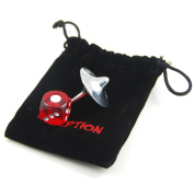 Extremely High Quality & Well Balanced Cobb Spinning Top with Dice & Bag